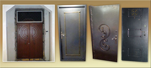 железная дверь гаражного типа стоимость