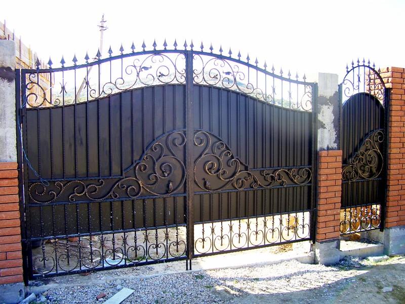 Ворота кованые фото Севастополь Крым