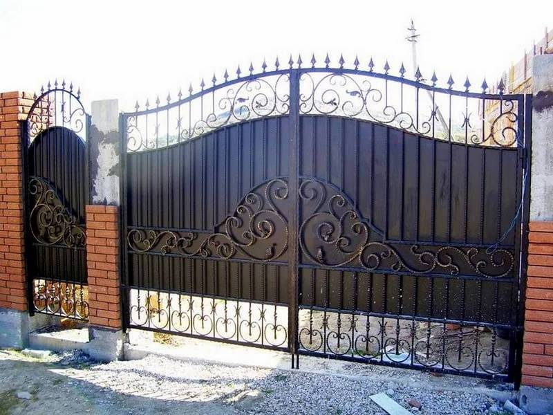 Кованые ворота с калиткой Севастополь Крым