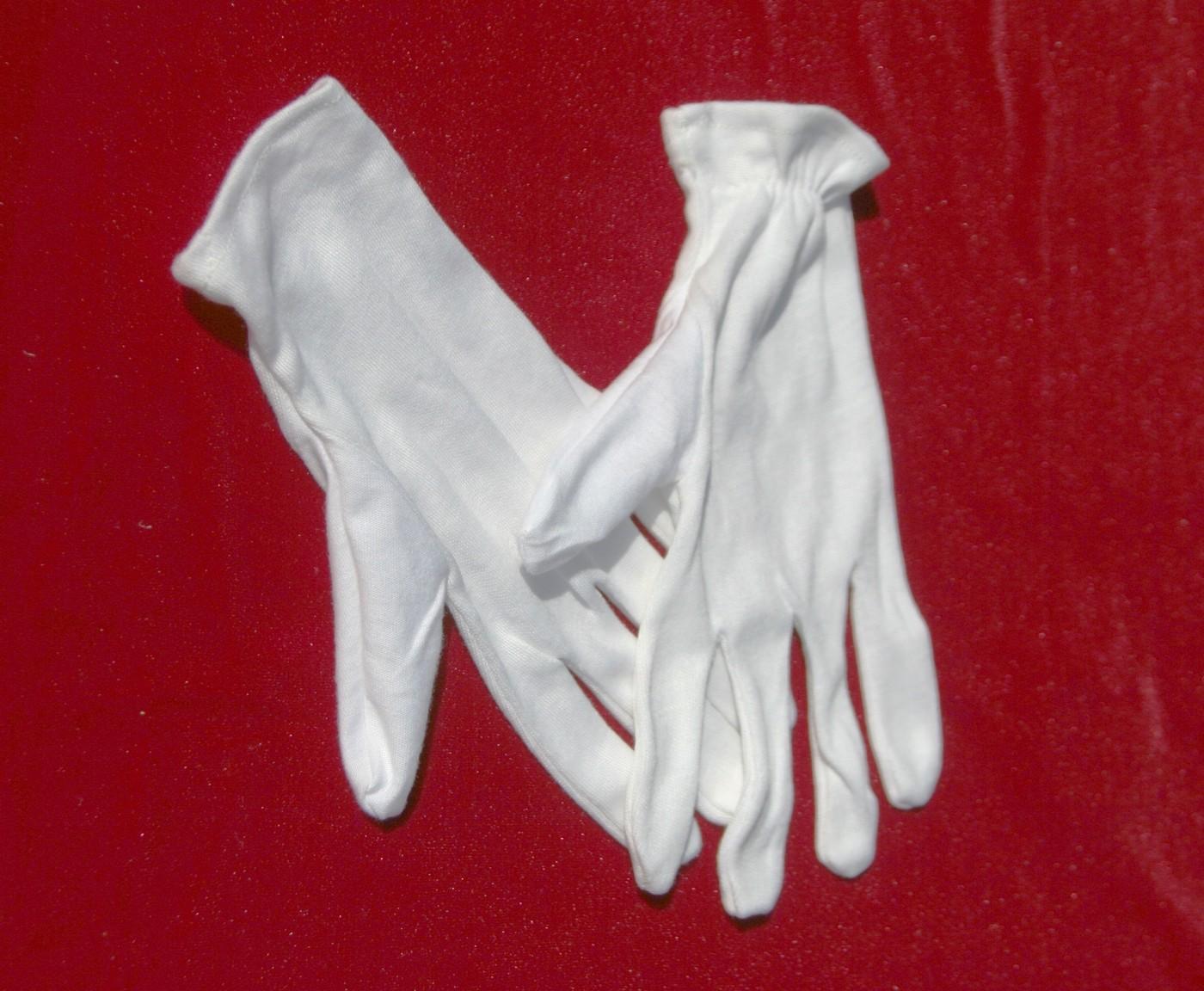 Перчатки-белые-хлопчатобумажные