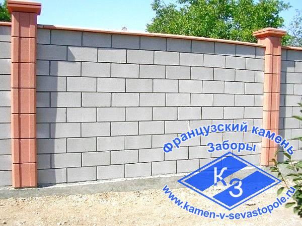 заборный камень в Севастополе