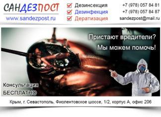 дератизация, дезинфекция, дезинсекция Севастополь